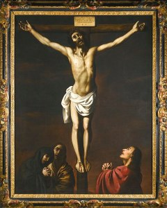 Zurbarán_-_CHRIST_ON_THE_CROSS_WITH_THE_VIRGIN,_MARY_MAGDALENE,_AND_SAINT_JOHN_AT_HIS_FEET,_Delenda_234